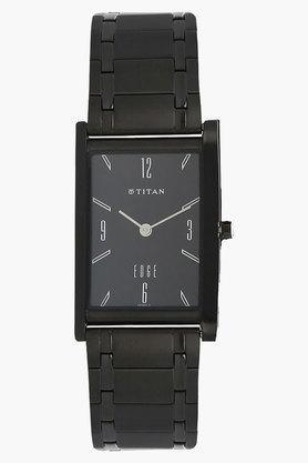 TITAN Mens Black Dial Analog Solid Links Watch - NH1043NM01A