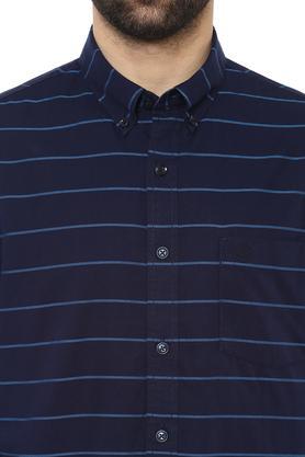 Mens Button Down Collar Striped Shirt