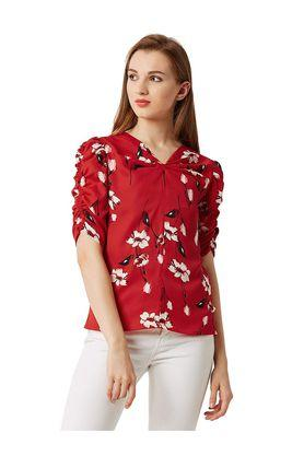 Womens Relaxed Fit Printed Top