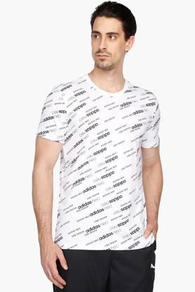 ADIDAS Mens Round Neck Printed T-Shirt - 203005953