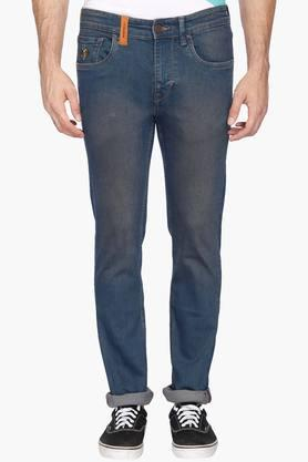 U.S. POLO ASSN. DENIM Mens 5 Pocket Skinny Fit Vintage Wash Jeans (Regallo Fit)