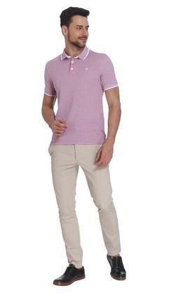 Mens Slim Fit Slub Polo T-Shirt