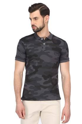 Mens Camouflage Polo T-Shirt