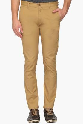 IZOD Mens Slim Fit 4 Pocket Solid Chinos - 202954378