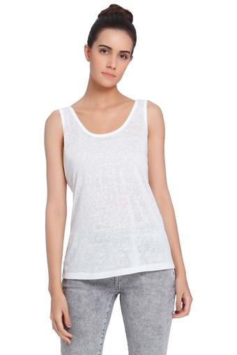 d6663a811d8 Buy VERO MODA Womens Round Neck Slub tank Top