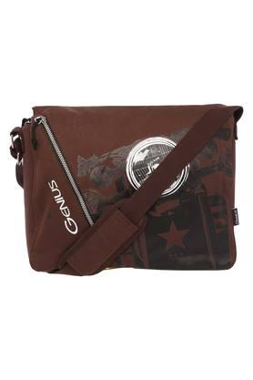 Unisex Zipper Closure Sling Bag