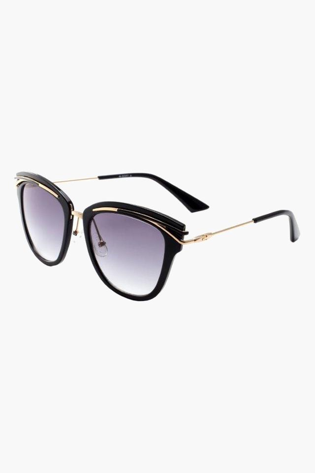 Womens Cat Eye Polycarbonate Sunglasses - 002 C1 S