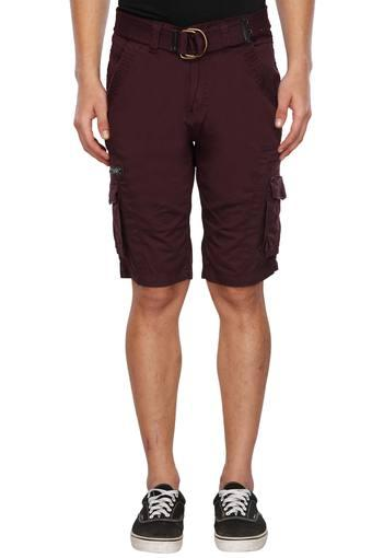Mens 8 Pocket Solid Cargos Shorts