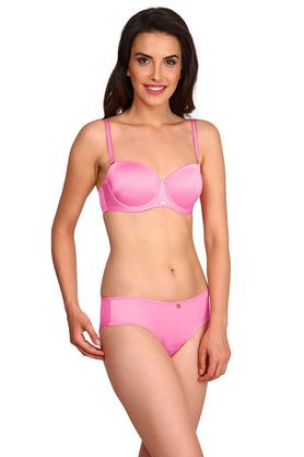 Womens Wired Padded Demi Cup Bra