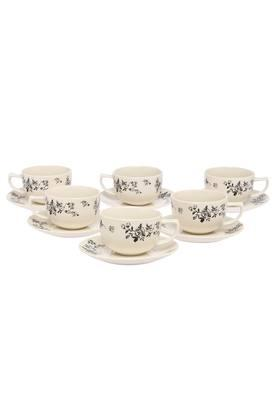 IVY Fantini Printed Tea Cup And Saucers Set Of 12