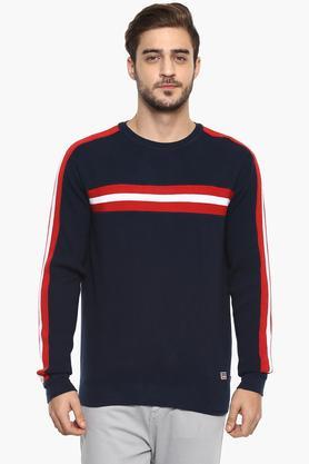 LEVISMens Round Neck Solid Sweater