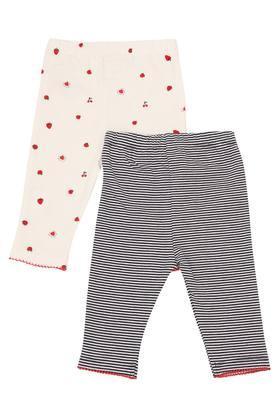 Unisex Printed and Stripe Leggings Pack of 2