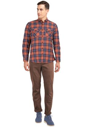 LIFE - OrangeCasual Shirts - 3
