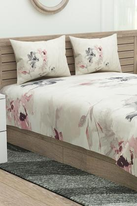 Floral Printed Esteem Double Bed Sheet with Pillow Covers