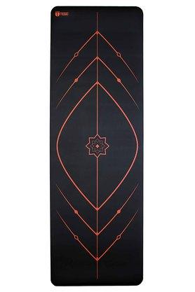 Unisex Honeycomb Textured Reversible Yoga Mat with Cover