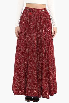 RITU KUMARWomens Printed Flared Skirt