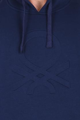 Mens Hooded Solid Sweatshirt