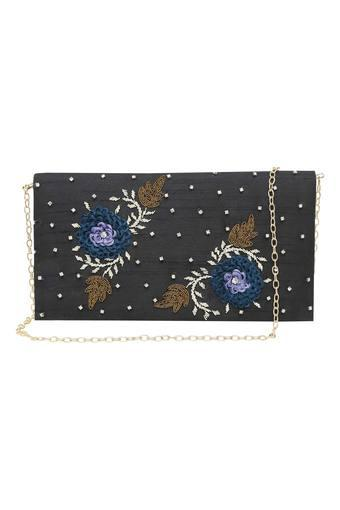 KASHISH -  Black Wallets & Clutches - Main
