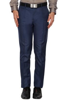 LOUIS PHILIPPE Mens 4 Pocket Slub Formal Trousers - 203698117