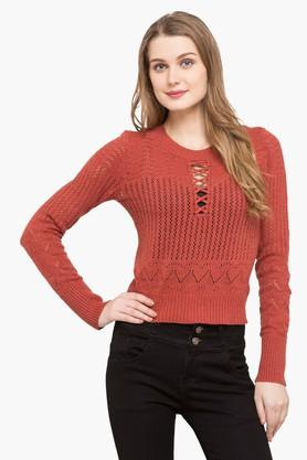 AEROPOSTALE Womens Round Neck Knitted Sweater