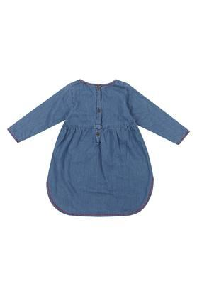 Girls Round Neck Assorted Flared Dress