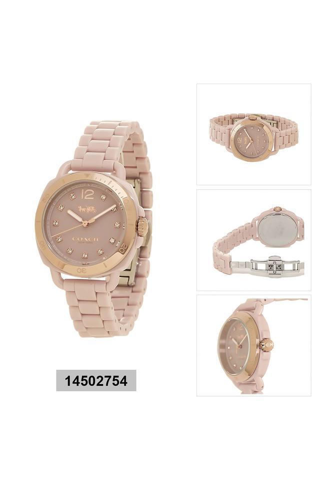 Womens Tatum Blush Ceramic & Ip Carnation Gold Steel Watch - 14502754