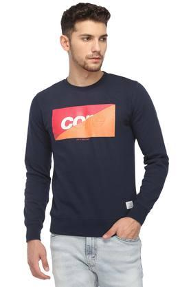 JACK AND JONES Mens Round Neck Printed Sweatshirt