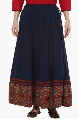 RANGRITI Womens Solid Long Skirt