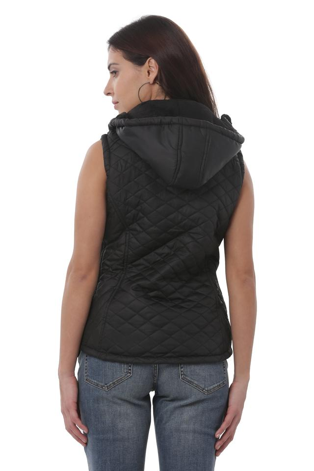 Womens Hooded Neck Quilted Jacket