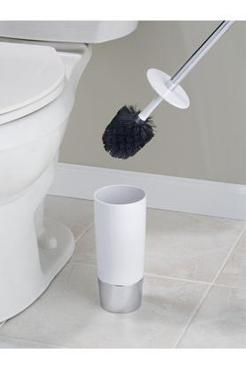 Solid Plastic Duetto Toilet Bowl Brush with Holder