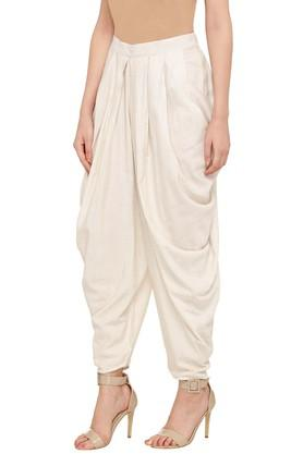 Womens Slub Dhoti Pants