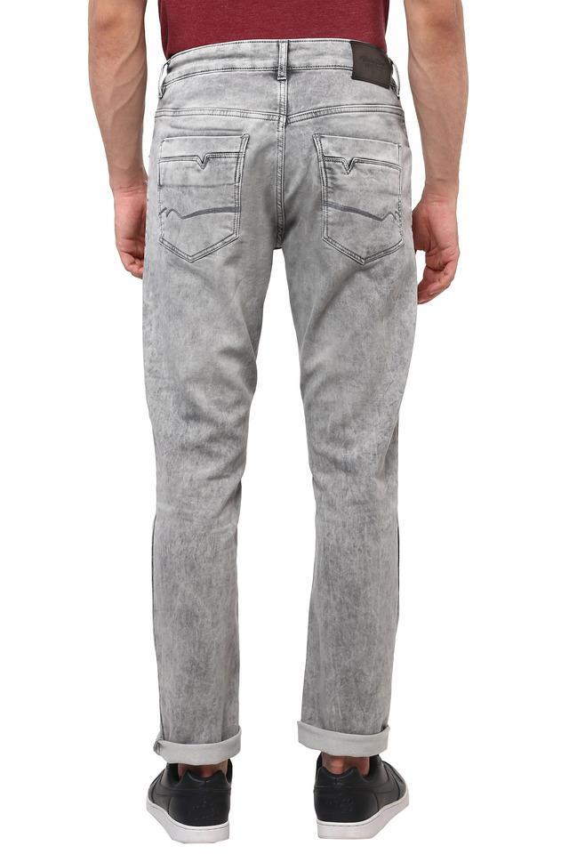 Mens 5 Pocket Acid Wash Jeans