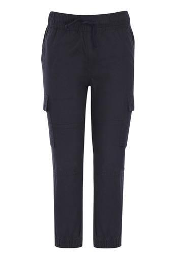 Girls 6 Pocket Slub Cargo Joggers