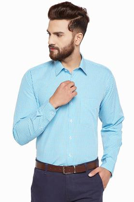Mens Regular Fit Checked Formal Shirt
