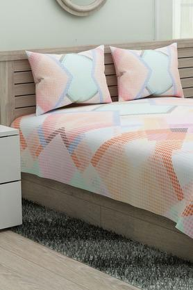 SPACESPrinted Modern Lines Single Bedsheet With Pillow Cover