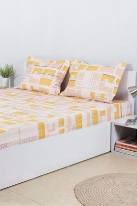 HOUSE THISPrinted Double Bed Sheet With 2 Pillow Covers - 203275936_9407