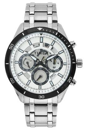 Mens Off-White Dial Chronograph Watch - TWEG15215