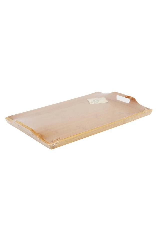 Rectangular Bamboo Tray with Handles