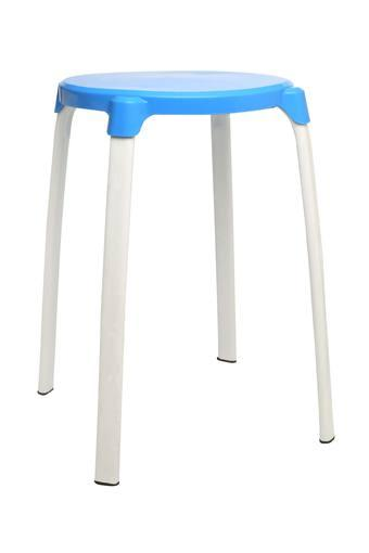 Blue Solid Stool
