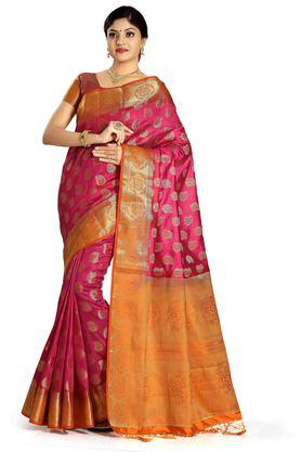 DEMARCA Womens Art Silk Tussar Designer Saree - 204100133_9557