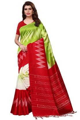 fbfc0eea804171 X ISHIN Womens Printed Saree with Blouse Piece. ISHIN. Womens Printed Saree  with Blouse Piece .
