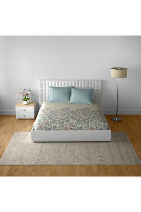 SPACESCotton Printed Double Bedsheet With 2 Pillow Covers - 203257363_9900