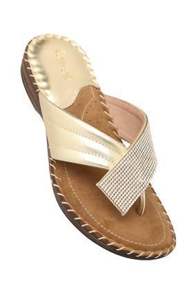 CATWALKWomens Party Wear Slip On Wedge Sandals