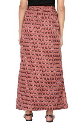 Womens Printed Slitted Long Skirt