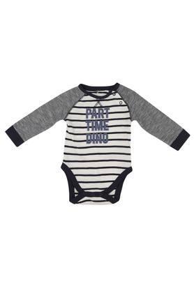 Boys Round Neck Stripe Bodysuit