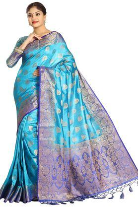 DEMARCA Womens Art Silk Tussar Designer Saree - 204100147_9308