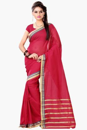 DEMARCA Womens Cotton Blend Printed Saree
