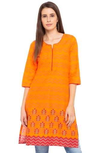 RANGRITI -  Orange Kurtas - Main