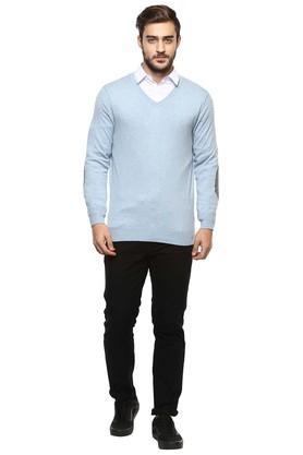 Mens V-Neck Slub Sweater