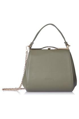RHESONWomens Metallic Lock Closure Satchel Handbag - 203349163